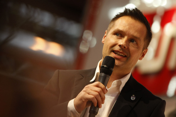 Andy Priaulx (GBR) on the Autosport Stage