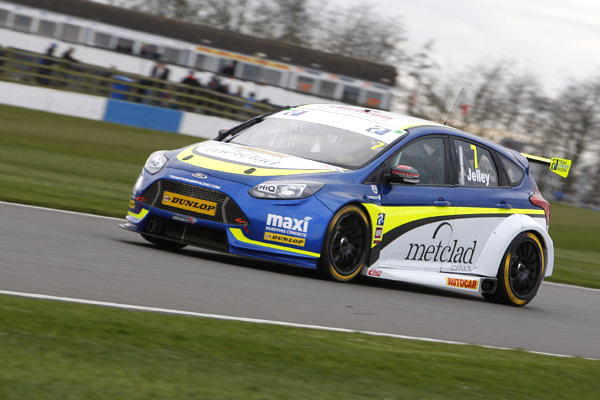 Stephen Jelley (GBR) No.7 Team Parker with Maximum Motorsport Ford Focus British Touring Car Championship Media Day 2017 at Donington Park,Derbyshire,UK on 16 March 2017. Lanyon/PSP