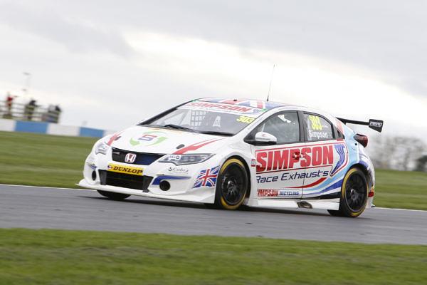 Matt Simpson (GBR) No.303 Simpson Racing Honda Civic Type R British Touring Car Championship Media Day 2017 atDonington Park,Derbyshire,UK on 16 March 2017. Lanyon/PSP