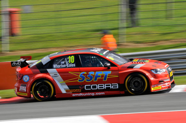 Round 1 of the 2017 British Touring Car Championship. #10 Ant Whorton-Eales (GBR). AmDtuning.com with Cobra Exhausts. Audi S3.